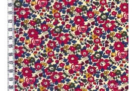 Tissu Liberty Betsy ann rouge garance