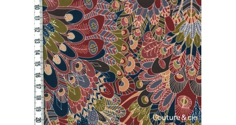 Tissu Liberty Eben terracotta dans Batistes Tana Lawn par Couture et Cie
