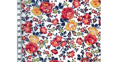 Tissu Liberty Felicité abricot dans Batistes Tana Lawn par Couture et Cie
