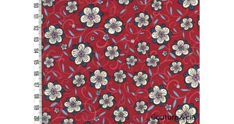 Tissu Liberty Lolly rouge dans Batistes Tana Lawn par Couture et Cie