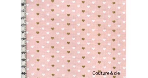Tissu Heart Sprinkles rose dans MICHAEL MILLER par Couture et Cie