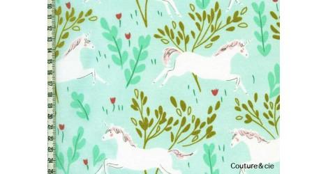 Tissu Unicorn Forest vert menthe dans MICHAEL MILLER par Couture et Cie