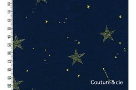 Tissu Lucky stars bleu marine