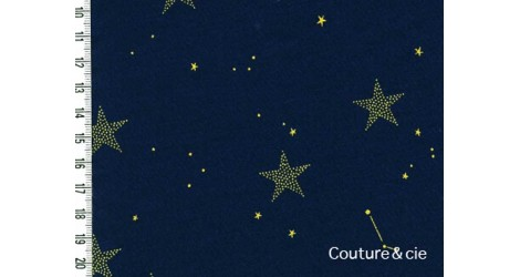 Tissu Lucky stars bleu marine dans MICHAEL MILLER par Couture et Cie