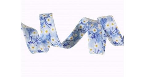 Biais Liberty Mitsi Valéria bleu layette dans Biais Liberty par Couture et Cie