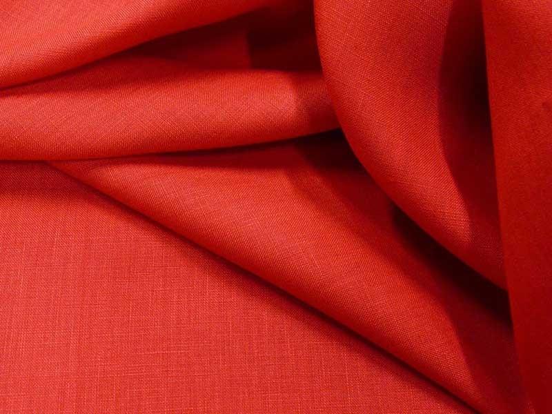 Fine toile de lin rouge