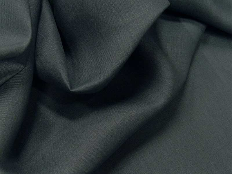 Fine toile de lin gris acier