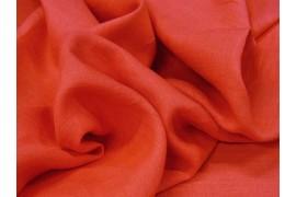 Fine toile de lin rose corail