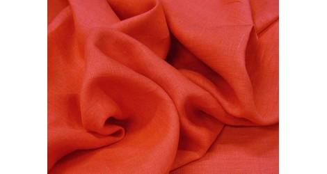 Fine toile de lin rose corail dans Lins par Couture et Cie