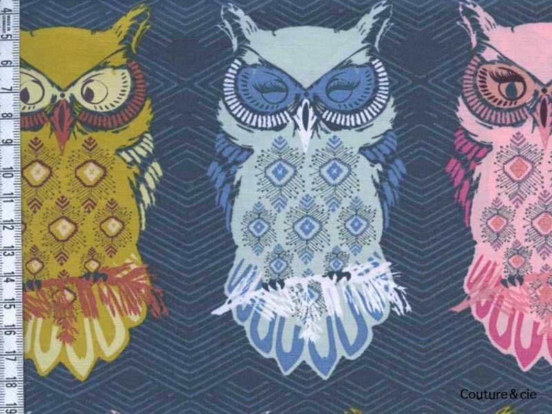 Tissu Art Gallery Fabrics chouette