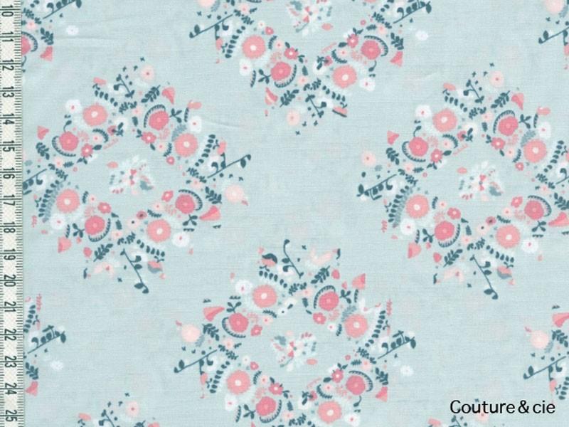 Tissu Art GAllery FAbrics joy wreaths ice