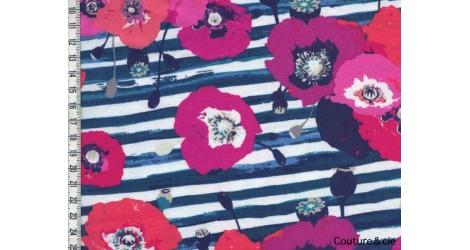 Jersey AGF Skopelos bleu dans ART GALLERY FABRICS par Couture et Cie