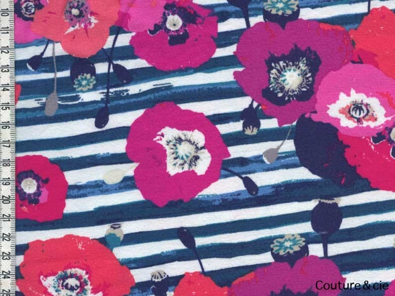 Jersey Art Gallery Fabrics coquelicot