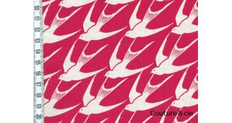 Cotton + Steel Bird rouge dans COTTON + STEEL par Couture et Cie