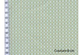 Cotton and Steel Basics Netorious vert et or, x10cm