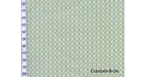 Tissu Netorious vert et or dans COTTON + STEEL par Couture et Cie