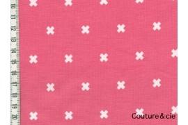 Tissu Xoxo Corail dans COTTON + STEEL par Couture et Cie