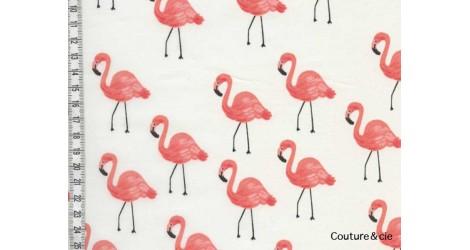 Tissu Rifle Paper co Flamingo dans COTTON + STEEL par Couture et Cie
