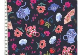 Garden Party Bleu marine dans COTTON + STEEL par Couture et Cie