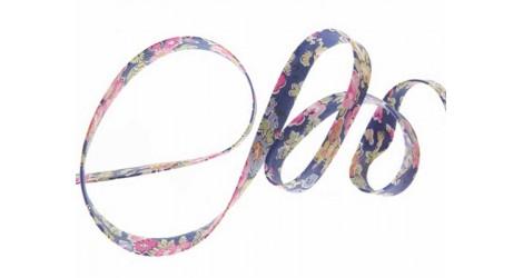 Biais Tatum bleu et rose dans Biais Liberty par Couture et Cie