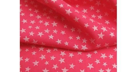 Batiste rose fushia étoiles nacrées dans Tissus Etoiles par Couture et Cie