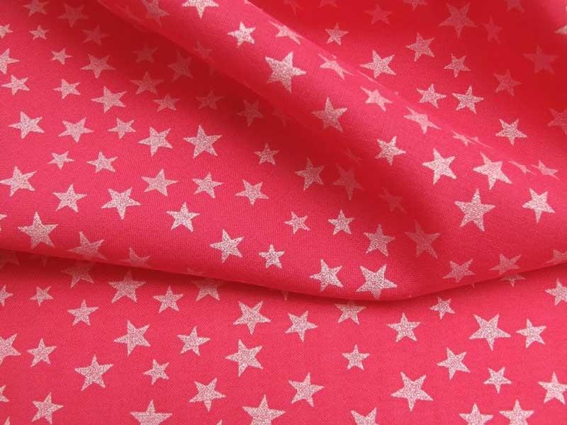 Batiste rose fushia étoiles nacrées