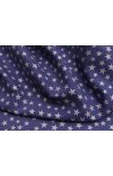 Batiste bleu étoiles nacrées