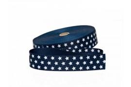 Sangle bleu marine avec étoiles 30mm