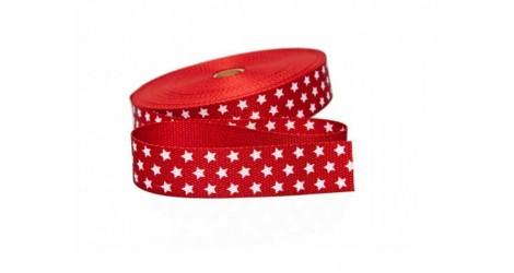 sangle rouge avec étoiles 30mm dans SANGLES par Couture et Cie
