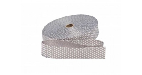 Sangle grise pois blancs 30mm dans SANGLES par Couture et Cie