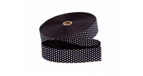 Sangle noire pois blancs 30mm dans SANGLES par Couture et Cie