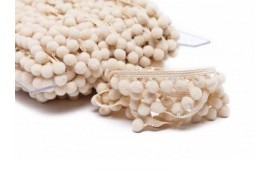 Galon pompons beige 18mm