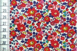 Tissu Liberty Betsy Ann rouge, coupon 76*137cm