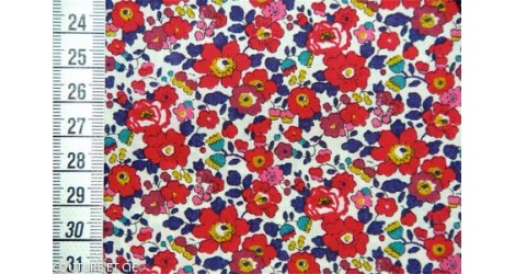 Tissu Liberty Betsy Ann rouge