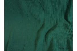 Double gaze gaufrée vert sapin, coupon 50*130cm