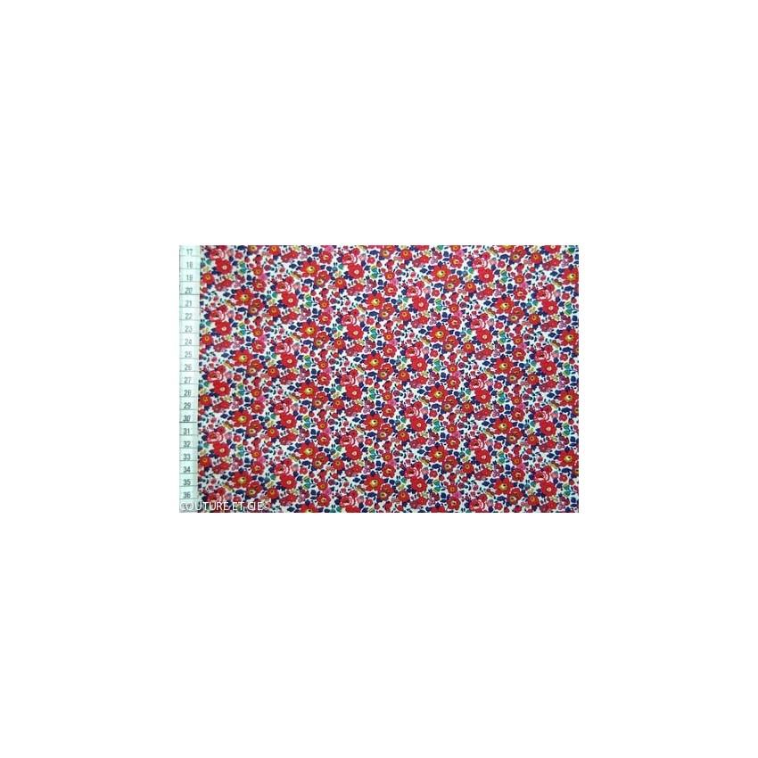tissu liberty betsy ann rouge en vente chez couture cie. Black Bedroom Furniture Sets. Home Design Ideas