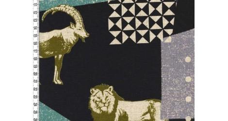 Tissu Echino Zon noir dans Echino par Couture et Cie