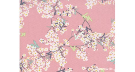 Tissu Cherrylight rose, coupon 50x110cm dans ART GALLERY FABRICS par Couture et Cie