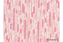 Tissu pandalicious Bambou rose