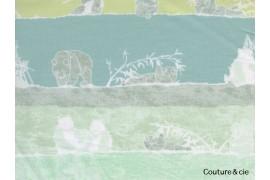 Tissu pandalicious Panda vert