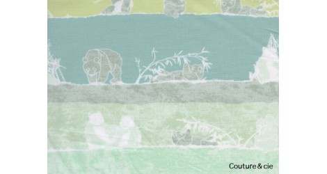 Tissu pandalicious Panda vert dans ART GALLERY FABRICS par Couture et Cie