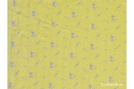 Double gaze FDS banane fleurs argent