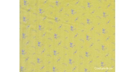 Double gaze FDS banane fleurs argent dans Double gaze FDS par Couture et Cie