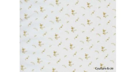 Double gaze FDS blanche fleurs or dans Double gaze FDS par Couture et Cie