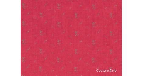 Double gaze FDS coquelicot fleurs argent dans Double gaze FDS par Couture et Cie