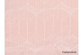 Tissu Wonderful Things rose graphique