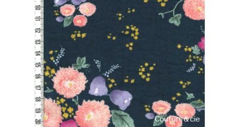 Flanelle de coton bleu Litlle letter dans TISSUS JAPONAIS par Couture et Cie