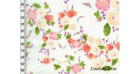 Double gaze Nani Iro Little letter blanc dans Nani Iro par Couture et Cie