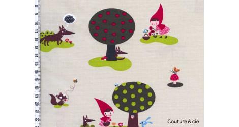 Tissu Chaperon rouge dans LINNAMORATA par Couture et Cie