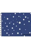 Tissu enduit poussières d'étoiles bleu jean